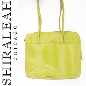 SHIRALEAH TOTE BAG LIME GREEN Vegan Leather School